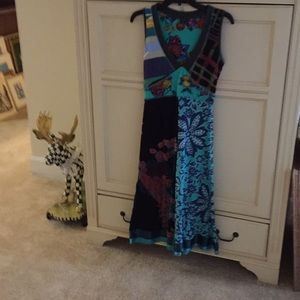 Desigual V-Neck cotton sleeveless dress